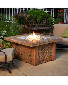The Outdoor Greatroom Sierra Square Gas Fire Pit Table - SIERRA-2424-M-K