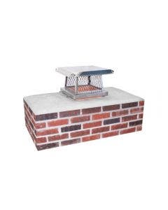 Ventis Stainless Steel Single Flue Chimney Cap With Flat Lid - SSSB