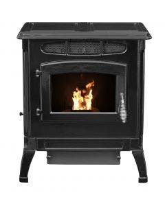 Breckwell Classic Cast Pellet Stove In Porcelain Black - SPC4000