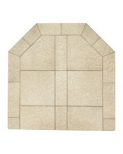 Diamond Hearths Standard Or Corner Hearth Pad - Sand Stone