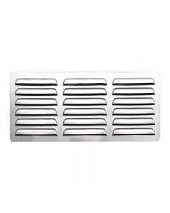 Summerset 6 x 12 Inch Stainless Steel Island Vent Panel with Masonry Frame Return - SSIV12M