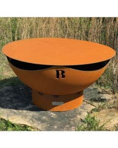 Fire Pit Art Steel Fire Pit Cover - 41 Inch