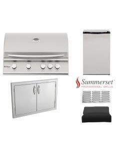 Summerset 5-Piece Outdoor Kitchen Package With Sizzler 32-Inch Grill - Summerset Sizzler 32 Package 1
