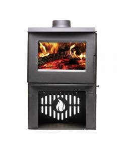 Breckwell SW1.2 Wood Burning Stove With Black Finish - Up To 1200 Square Feet