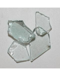 American Specialty Glass - Fire Glass - Clear Plate - 3/8 Inch to 1/2 Inch