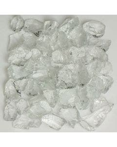 American Specialty Glass - Fire Glass - Crystal Clear - 1/4 Inch to 3/8 Inch