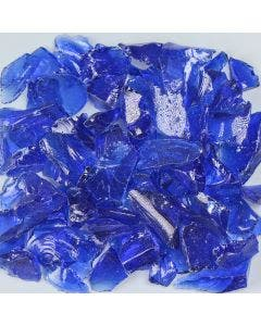 American Specialty Glass - Fire Glass - Dark Blue - 1/4 Inch to 3/8 Inch