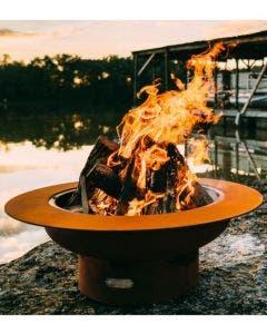 Fire Pit Art Wood Fire Pit- Saturn