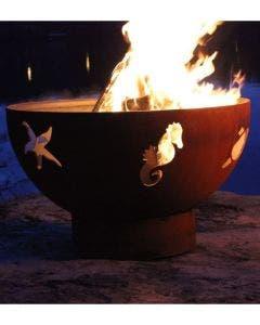 Fire Pit Art Wood Fire Pit- Sea Creatures