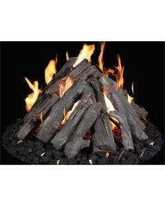 """Grand Canyon Gas Logs 24"""" - 48"""" Tee-Pee Fire Pit Burner Kit With Logs"""