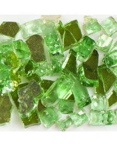 American Specialty Glass - Fire Glass - Reflective Green - 1/4 Inch to 3/8 Inch