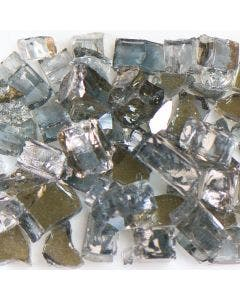 American Specialty Glass - Fire Glass - Reflective Grey - 1/4 Inch to 3/8 Inch