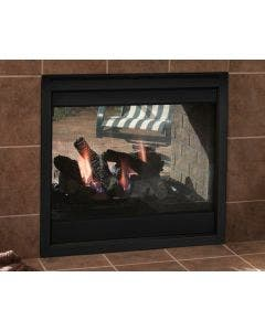 Majestic Indoor/Outdoor See Through Gas Fireplace- TWILIGHT-II-C