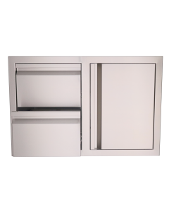 RCS Valiant Series 33-Inch Stainless Steel Access Door & Double Drawer Combo - VDC1 - Front View