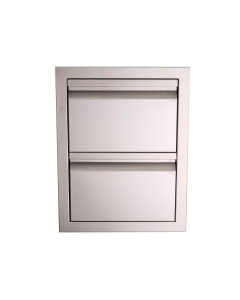 RCS Valiant Series 17-Inch Stainless Steel Double Access Drawer - VDR1 - Front View