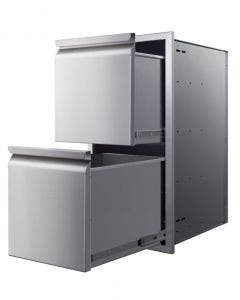 """Memphis Grills 15"""" Double Access Drawer With Soft Close- VGC15DB2"""