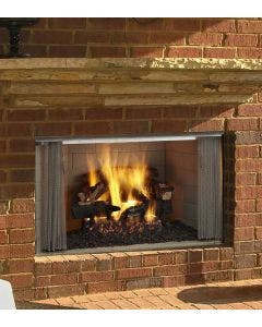 Majestic 36-Inch Villawood Outdoor Wood Fireplace ODVILLA-36