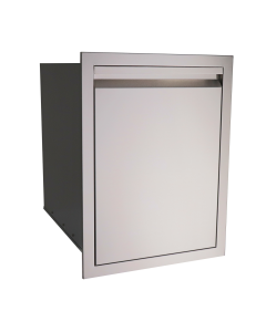 RCS Valiant Series 20-Inch Stainless Steel Double Trash Drawer - VTD2 - Left view
