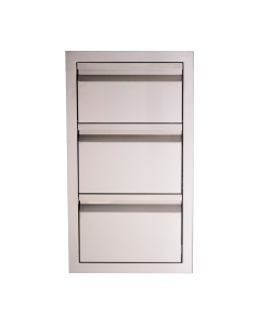 RCS Valiant Series 17-Inch Stainless Steel Double Access Drawer & Paper Towel Holder - VTHC1 - Front View