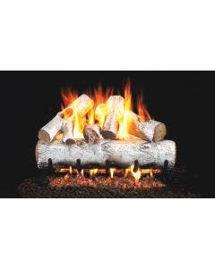 Peterson Real Fyre Vented Gas Log Set - White Birch ANSI
