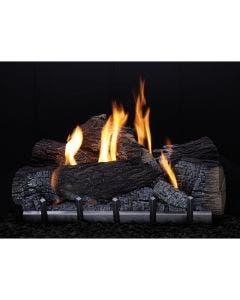Empire Carol Rose Outdoor 30 Inch Harmony Millivolt Burner and 30 Inch Wildwood Log Set - ONR30 / OLX30WR