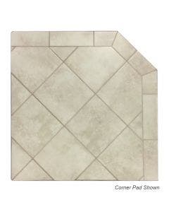 Diamond Hearths Standard Or Corner Hearth Pad - White Lava