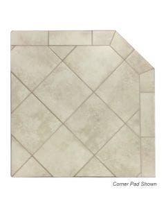 Diamond Hearths Standard Or Corner Hearth Pad - White Lava