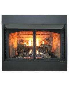 "Buck Stove Model ZCBBXL 42"" Vent Free Gas Stove Deluxe Builders Box with Oak Log Set - Natural Gas"